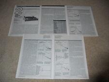 Linn Sondek LP12 Turntable Review, 5 pg, Full test, Info, Specs, Very Rare!