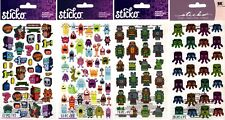 U Choose Sticko Stickers Robots - Mini Monsters - Space Critters Toys Games Boys