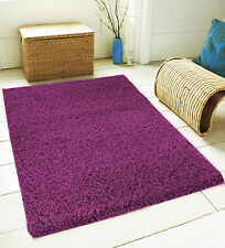 5cm SMALL LARGE THICK PLAIN SOFT SHAGGY RUG NON SHED PILE FLOORING CARPET RUGS
