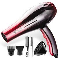 2200W Professional Hair Dryer Blower Salon HOT & Nozzle Diffuser Comb 6Pcs Kit