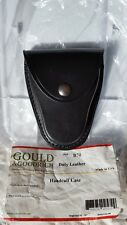 New Gould & Goodrich black leather handcuff case with silver snap