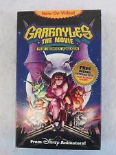 GARGOYLES THE MOVIE The Heroes Awaken VHS Tape with Interactive Game Buena Vista