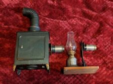 ANTIQUE TOY MAGIC LANTERN LAMP LANTERN PROJECTOR LOT W EXTRAS + GLASS SLIDES