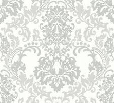 Tapete Barock weiss grau Ornament Muster Vliestapete Wohnzimmer Schlafzimmer