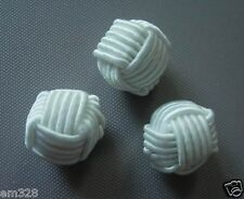 FG226 Crochet Ball Knots Chinese Buttons Cream Sewing/Craft 30pcs