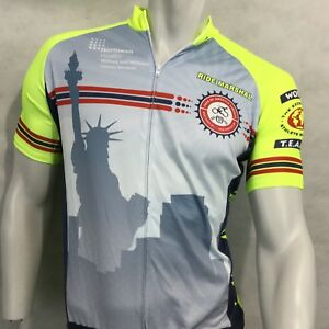 Vomax Team Ride Marshal Cycling Bike Jersey Half Zip Sz S Neon Green Liberty