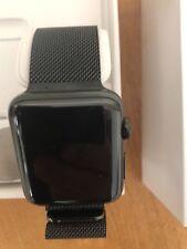 Apple Watch 3 GPS+Cellular schwarz Edelstahl 42mm Neu Milanaise Armband OVP+Gara