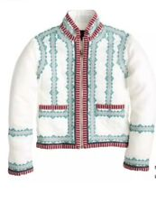 128. J. Crew Collection Embroidered Linen Jacket Sz 8 $495