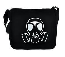 Apocalypse Gas Mask Messenger Bag Cross Body Handbag Bio Hazard Sign
