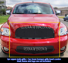 Fits 2006-2011 Chevy HHR Black Stainless Steel Mesh Grille Grill Insert Combo