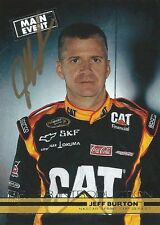 JEFF BURTON AUTOGRAPHED 2011 WHEELS MAIN EVENT RACING NASCAR PHOTO TRADING CARD