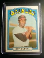 1972 Topps #370 Don Buford Orioles NmMt Sharp!