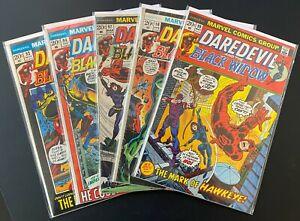 Bronze Age Comics Lot - Daredevil #93,#94,#97,#98, #99