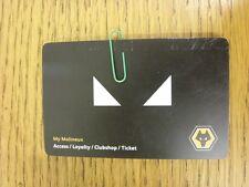 circa 2000's Wolverhampton Wanderers: Black - Access/Loyalty/Club shop/Ticket -