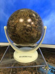 """Hammond Antique Style Mini Globe~Desk Decor~Swivel & Tilt 4"""" Diameter, 5""""H~Map"""