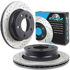 REAR DRILLED GROOVED 276mm BRAKE DISCS BMW E36 E46 320 323 325 328 320d 325I