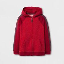 Cat & Jack Boys Red Hoodie Sweatshirt Jacket Full Zip Large (12/14) NWT