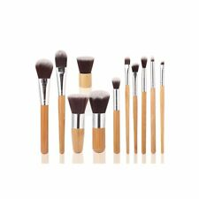 11Pcs Professional Makeup Brushes Bamboo Handle Beauty Cosmetic Brush Tool Set