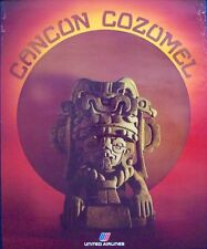 UNITED AIRLINES CANCUN COZUMEL 1978 Vintage Travel poster 22x28