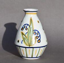 Vase en faïence Orchies – décor floral par Diaz