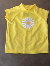 Infant Girls Yellow CIRCO S/S Flower Swim Rash Guard - 9 Months