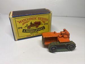 Matchbox Series A Moko Lesney Caterpillar Tractor With Original Box. Vint. 1955