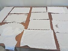 Antique Handmade Doilies rectangle in shape all hand worked 16 pieces