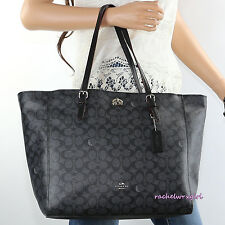 NWT Coach Signature Multifunction Diaper Baby Tote Business Bag 36742 Black NEW