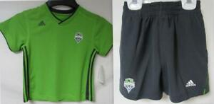 Adidas Seattle Sounders FC Toddler Size 3T Jersey and Shorts Set A1 3285