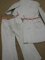 Vintage Anne Klein Edie Adams Worn 3pc White Leather Western Outfit 10