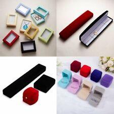 Charm Velvet Jewellery Case Packing Gift Box For Ring Earrings Necklace Bracelet