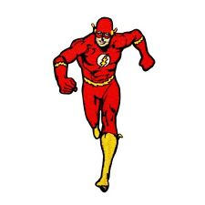 The Flash Superhero DC Comic Book Fan Super Speed Hero Iron-On Applique Patch