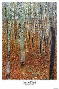 Gustav Klimt - Birch Forest Art Nouveau Poster Print (36x24in) #116955
