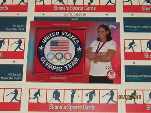 2016 Topps U.S. Olympic Team Patches Red #USAPMM Maya Moore SN 02/25