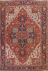 Antique Pre-1900 Vegetable Dye Heriz Serapi Area Rug Hand-knotted Oriental 10x13