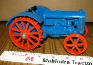 Ford FORDSON Blue & Orange Steel Wheel Tractor 1/16 Scale Models 1997 Toy #408