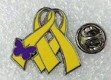 *NEW* Twinless Twin Awareness / Remembrance ribbon enamel pin badge / brooch.
