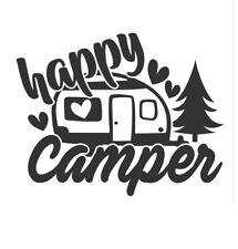 Camping Happy Camper Wohnwagen Wandtattoo Wallpaper Wand Schmuck 74 x 58 cm