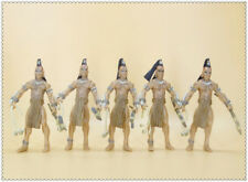 LOT OF 5 Indiana Jones UCHA WARRIOR ACTION FIGURE 3.75""