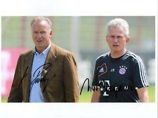 Jupp Heynckes & Rummenigge FC Bayern 20x25 GF original Autogramm signiert signed