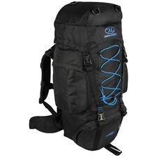 Highlander Rambler 66 Hiking Rucksack Trekking Travel Backpack 66L Black Teal