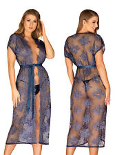 OBSESSIVE Flowlace Luxury Super Soft Sheer Lace Robe / Peignoir