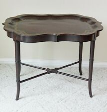 Maitland Smith Leather Tray Table