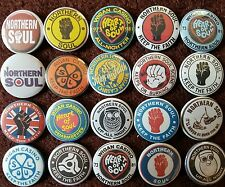 Northern Soul Wigan Casino Button Badges x 20 (SET 1). Pins. Wholesale. Bargain.