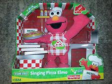 SINGING PIZZA ELMO 2007 Plush Toy SESAME STREET Fisher Price STUFFED ANIMAL DOLL