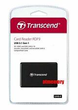 Transcend RDF9 Card Reader USB3.1 for CF/SD/SDHC/SDXC/Micro SD SDHC SDXC US