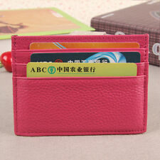 Men Womens PU Leather Small ID Credit Card Wallet Holder Slim Pocket Case Purse