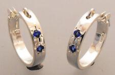 Lab-Created/Cultured Sapphire Stone Fashion Earrings