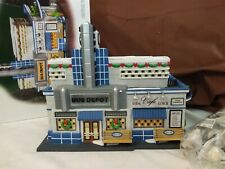 Dept 56 Christmas In The City 2003 Blue Line Bus Depot 59210 Retired 2005