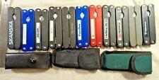 "11 Pocket Multi tools pliers Blades Openers 4"" handles screwdrivers Phillips"